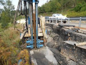 Indagine e progettazione geotecnica per ripristino tratto franato